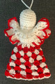 *ANGEL ORNAMENT, Šahovnica Pattern: Handmade Crocheted Lace from Croatia by Durda Janes, NEW 2020! Larger Size and Filled Body That Will Stand on Its Own!