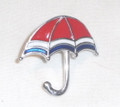 LICITAR JEWELRY, Šestine Umbrella Pin 2.0g, Hand-Painted and Imported from Croatia: NEW! ONE-OF-A-KIND!