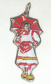 LICITAR JEWELRY, Šestine Woman with Umbrella Pendant 3.2g, Hand-Painted and Imported from Croatia: NEW!
