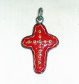 LICITAR JEWELRY, Traditional Cross Pendant 2.5g, Hand-Painted and Imported from Croatia: NEW! ONE-OF-A-KIND! (1)