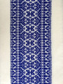 *****Woven Traditional-Patterned Textile Infinity Scarf, Imported from Croatia: NEW! (Deep Vibrant Blue on White) PRICE DROP! NEW COLOR!