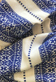 Woven Traditional-Patterned Textile Infinity Scarf, Imported from Croatia: NEW! (Vibrant CROATIAN Blue on White) PRICE DROP! NEW COLOR!