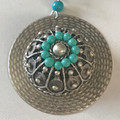Botun Pendant with Turquoise Beads (4), Imported from Croatia: NEW! STEEPLY DISCOUNTED PRICE! Wow!