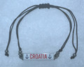 "Bracelet: ""CROATIA"" Fully Adjustable, Imported from Croatia: NEW! (Anchors)"
