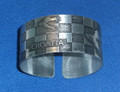 "Handmade Cuff Bracelet with ""CROATIA"" using ŠAHOVNICA & MAPS Design: New, Trendy, and Imported from Croatia!"