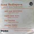 "*VINYL RECORD: ""Cigan Pesme"" by Esma Redžepova, ONE AVAILABLE! COLLECTIBLE! 45 RPM (EPY-3112 JUGOTON)"