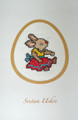 **CROATIAN EASTER CARDS with Female Bunny, Hand Embroidered ~ Created in and Imported from Croatia: NEW!