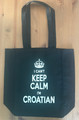 "Canvas Tote, ""I CAN'T KEEP CALM, I'M CROATIAN""   NEW! (Black) SOLD OUT!"