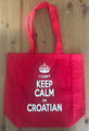 "Canvas Tote, ""I CAN'T KEEP CALM, I'M CROATIAN"" NEW! (Red)  SOLD OUT!"