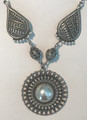 *Pendant with Pearls and 6 Full-Ball Botuni, Imported from Croatia: ONE-OF-A-KIND! STEEPLY DISCOUNTED PRICE! Striking! SOLD OUT!