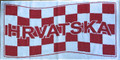 Croatian Face Towel/Sports Towel with Šahovnica (Croatian Checkerboard) Design: ON SALE!