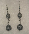 Earrings with Double Ball Botuni, Imported from Croatia: NEW! (Medium)  CLEARANCE!
