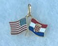 *****14K Gold FLAG & GRB Pendant with Color Enamel, 5.76g: NEW! Only ONE Available!