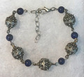 Botun Bracelet with 5 Full-Ball Botuni and Lapis Lazuli Beads, IMPORTED from CROATIA: NEW! STEEPLY DISCOUNTED PRICE! SOLD OUT!