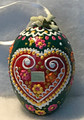 """*Large Wooden Hanging Easter Eggs (3.5 in), Hand-Painted in and Imported from Croatia: NEW for 2021 with """"SRETAN USKRS!"""" (Green2) ONE AVAILABLE!"""