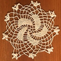 Handmade Crocheted Lace from the Estate of a Croatian Family: Whirligig Pattern