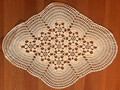 Handmade Crocheted Lace from the Estate of a Croatian Family: Oblong Intricate Piece:  SOLD!