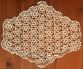 Handmade Crocheted Lace from the Estate of a Croatian Family: Large Oblong Star Pattern