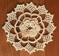 Handmade Crocheted Lace from the Estate of a Croatian Family: 3-Dimensional Floral Center