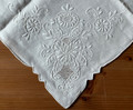 2021 ANTIQUE Hand Embroidered Table Topper with 4 Napkins! INCREDIBLE! NEW!
