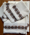 2021 Machine-Embroidered Tablecloth with 4 Matching Napkins! GORGEOUS! NEW!