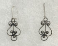 FILIGREE Earrings with Antique Silver Beads, Imported from Croatia, Delicate! NEW!