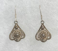 FILIGREE Earrings with Delicate Botuni Center, Imported from Croatia, ANTIQUE! NEW!