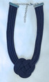 Navy Blue PLETER Necklace, Handmade and Imported from Croatia!