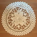 Handmade Crocheted 3-D Doily, 8.5 inches, Imported from Croatia: NEW in 2019! SPECTACULAR!