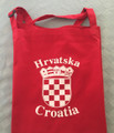 *Apron ~ Croatian Grb (Crest) ~ Red with 3 Pockets and Adjustable Neckline!