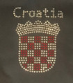 "T-Shirt: Women's Style, Short Sleeves and V-Neck! ~Croatian GRB ""Bling!"" SALE! (Smoky GREY)"