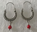 KONAVLE Earrings with Coral Seed Bead, ONE-OF-A-KIND: Imported from Croatia (Small) STEEPLY DISCOUNTED PRICE! SOLD OUT!