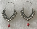 KONAVLE Earrings with Coral Seed Bead, ONE-OF-A-KIND: Imported from Croatia (Large Fancy) STEEPLY DISCOUNTED PRICE!