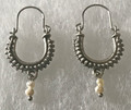 KONAVLE Earrings with Freshwater Pearls, ONE-OF-A-KIND: Imported from Croatia (Small) STEEPLY DISCOUNTED PRICE!  SOLD OUT!