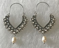 KONAVLE Earrings with Freshwater Pearls, ONE-OF-A-KIND: Imported from Croatia (Large Fancy) STEEPLY DISCOUNTED PRICE! SOLD OUT!