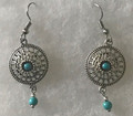 DESIGNER EARRINGS, Unique & ONE-OF-A-KIND with Turquoise Beads, Handmade and Imported from Croatia! ONE-OF-A-KIND! STEEPLY DISCOUNTED PRICE! (4)