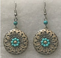 DESIGNER EARRINGS, Unique & ONE-OF-A-KIND with Turquoise Beads, Handmade and Imported from Croatia! ONE-OF-A-KIND! STEEPLY DISCOUNTED PRICE! (6)