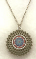 Glass Dome Pendant Necklace in the MURANO 'MILLEFIORI' Style, Imported from Croatia, ONE-OF-A-KIND! (2)