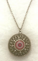 *Glass Dome Pendant Necklace in the MURANO 'MILLEFIORI' Style, Imported from Croatia, ONE-OF-A-KIND! (7)