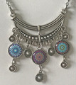 Glass Dome Necklace in the MURANO 'MILLEFIORI,' Imported from Croatia, ONE-OF-A-KIND! (11) STEEPLY DISCOUNTED PRICE!