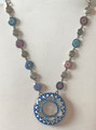 *Glass Dome Necklace in the MURANO 'MILLEFIORI,' Imported from Croatia, ONE-OF-A-KIND! (6) STEEPLY DISCOUNTED PRICE!