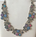 *Glass Dome Necklace in the MURANO 'MILLEFIORI,' Imported from Croatia, ONE-OF-A-KIND! (8) STEEPLY DISCOUNTED PRICE!
