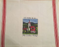 "*Croatian Cooking ~ Kitchen Towel ~ ""I'd rather be in...My Croatian Village"" ~ with 'Croatian Red' Stripe, NEW!"