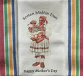 "****Croatian Cooking ~ Kitchen Towel ~ ""Sretan Majcin Dan/Happy Mother's Day"" ~ with Multicolor, PRIGORJE Stripe! RE-STOCKED!"
