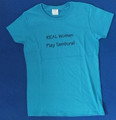 "T-Shirt: Ladies / Short Sleeves Style ~ ""REAL Women Play Tambura!""~ Only ONE Size 3XL: CLEARANCE!"