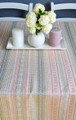 **(6Pastel) Table Runner, Woven PRIGORJE Pattern, Shades of Pastels: Imported from Croatia! NEW! 14 in x 55 in (35 cm x 140 cm) DISCOUNTED PRICE! RE-STOCKED!