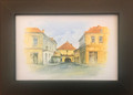 """Kamenita Vrata"" Framed Art by Georges Batinich: NEW! (5.25 inches by 7.25 inches)"