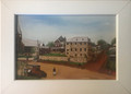 """""""St. John's Orphanage"""" Framed NAIVE Art by MARIJANA: NEW! (5.25 inches by 7.25 inches): SALE!"""