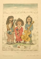 """""""TRIO"""" by Josip Generalić, 1985 SIGNED ORIGINAL: STEEPLY Discounted Price! SOLD!"""