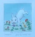 """Bunny in the Meadow"" by Josip Generalić, 1994 SIGNED ORIGINAL (""Zeko na livadi""): STEEPLY Discounted Price! SOLD!"